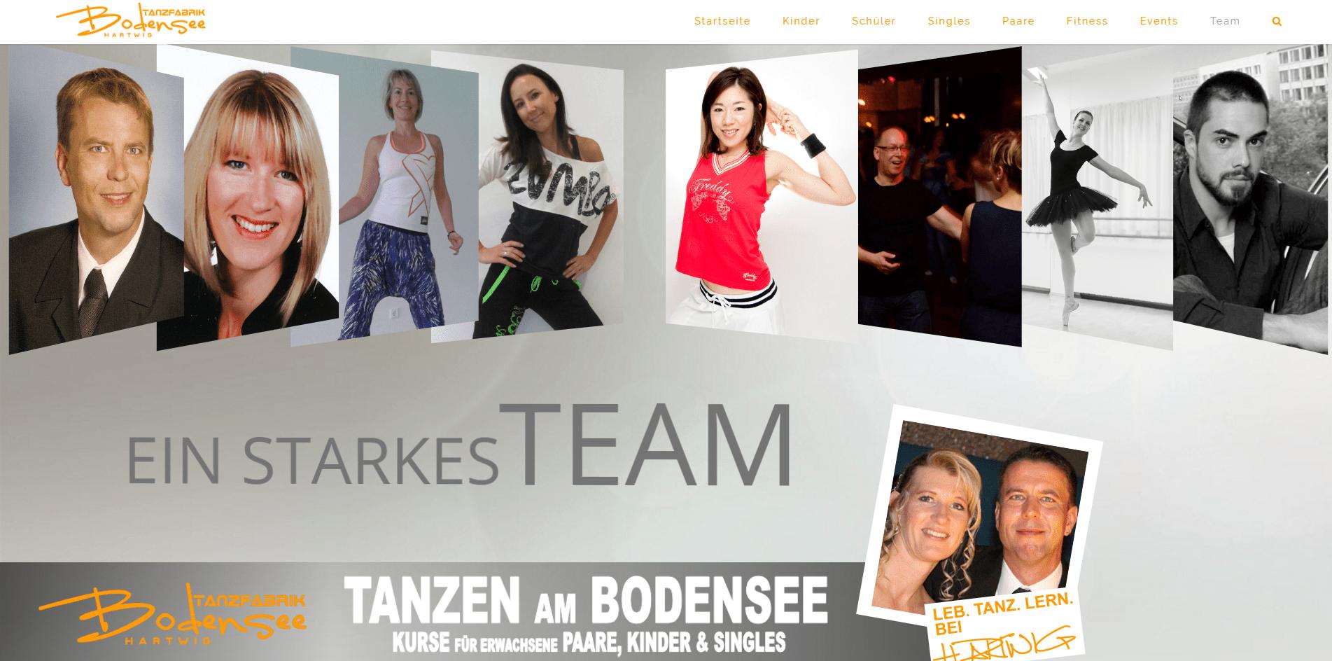 Team der Tanzschule Tanzfabrik Bodensee
