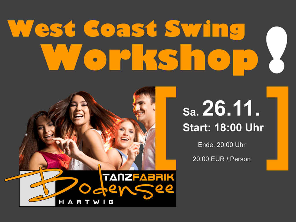 West Coast Swing Workshop am 26.11.2016 am Bodensee