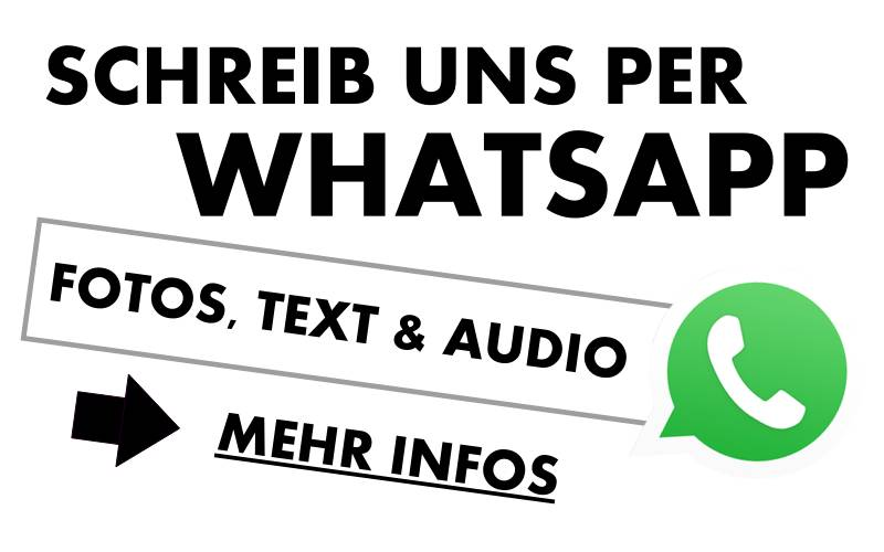 Schreib uns per Whatsapp