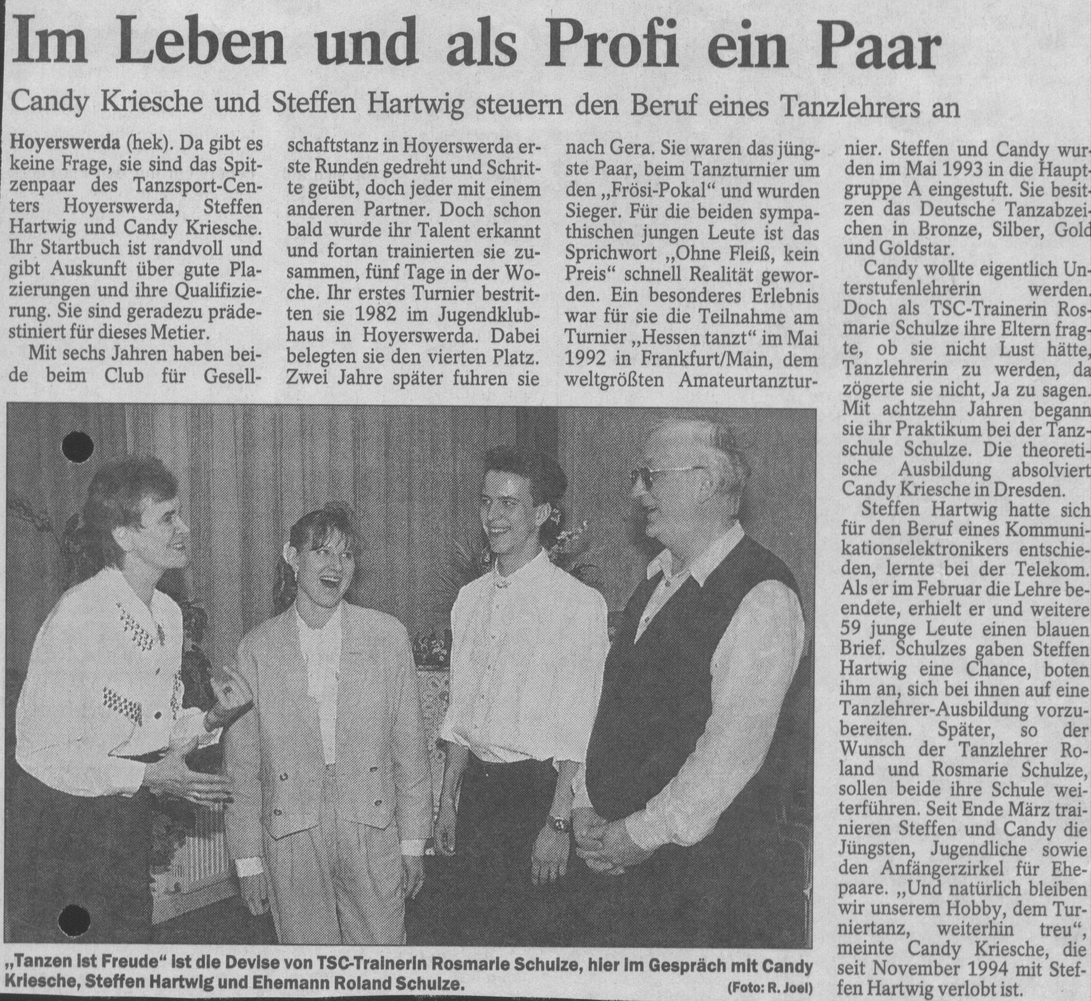 Tanzschule Tanzfabrik Bodensee - Im Leben und als Profi ein Paar - Steffen und Candy Hartwig