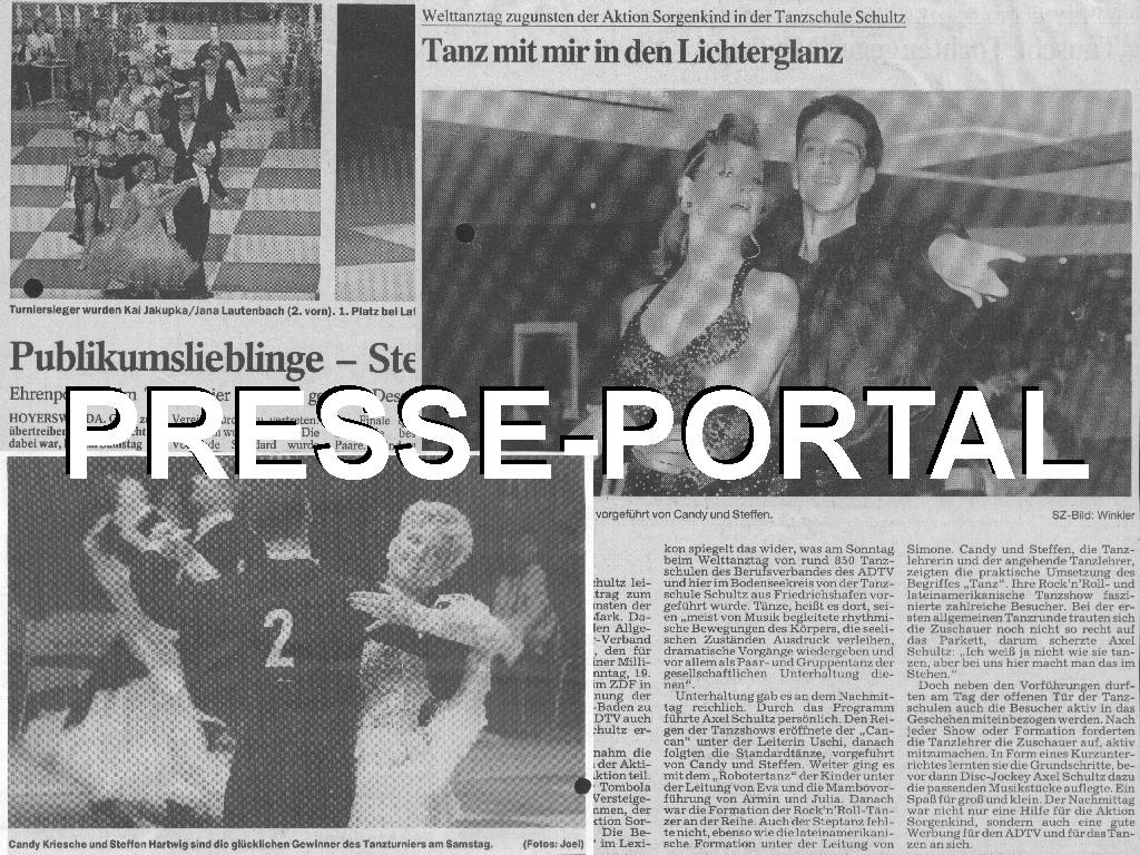 Presse-Portal der Tanzschule Tanzfabrik Bodensee