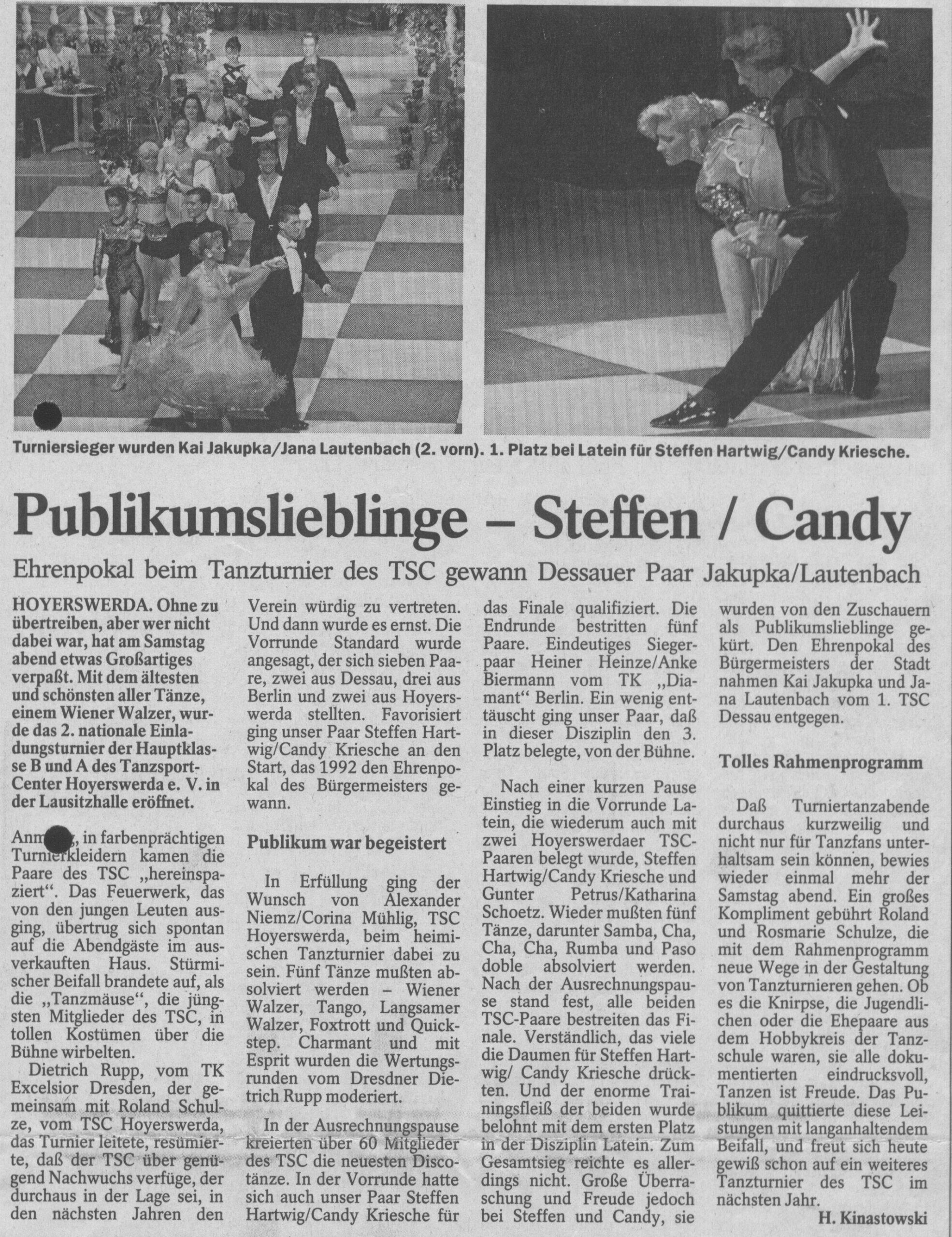 Tanzschule Tanzfabrik Bodensee Publikumslieblinge Steffen und Candy