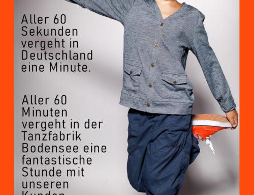 Aller 60 Sekunden vergeht in Deutschland eine Minute